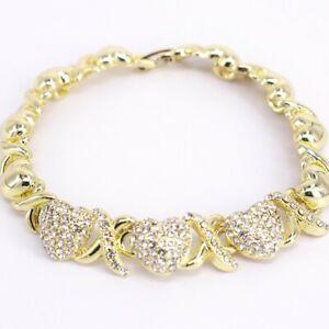 HUGS & KISSES Xo Bracelet 18k Layered real Gold Filled #10