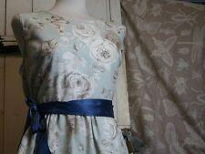 Knee Length Cotton Blend Floral Tea Dresses