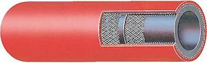 """5/16"""" ID RED Nitrile Tubing 5/8"""" OD Single Braid Polyester Cord Reinforced Hose"""