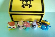 5 MOSHI MONSTER  PIRATE FIGURES IN YELLOW CHEST