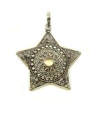 Sterling Silver Pentagram Pendant with Moonstone ... wicca, pagan