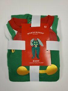 NWT Baby Child Holiday Elf Pajama Set Wondershop Green Target Family 6-9Mths 🌲