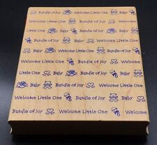 Baby Wordprint Hero Arts Wordprints #S1321 Wood Mounted Rubber Stamp 1997 5