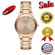 *****USA Seller 100 NEW Burberry Rose Dial Rose Gold-tone Unisex Watch BU9034