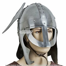 Medieval Knight Viking Helmet Norman Winged Wearable Helm w/ Liner & Chin Straps