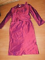 SIZE 14 Ladies SILK 3 PIECE OCCASION OUTFIT by JOHN CHARLES SKIRT TOP Reduced