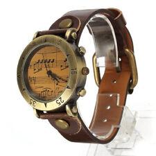Reloj Analogico Cuarzo Vintage Pulsera Correa PU Marron para Mujer Hombre P7