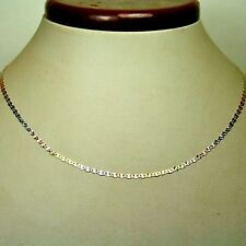 14k solid multi-tone gold 22 inches long 2.2mm Flat Star link chain 2.0 grams