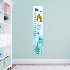 Personalised Girls Mermaid Sea Measuring Height Growth Stickers Chart Pack