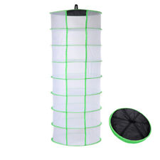 Herb Drying Rack Net Dryer 8 Layer 2ft White W/Green Opening Shape Mesh Hydropon
