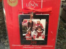 New Lenox Silver Plate Joy Christmas Ornament Frame Picture Holder $12.00 870945