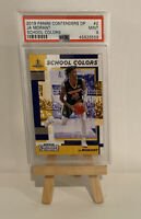 2019 Panini Conte Ja Morant Rookie Card School Colors #2 Grizzlies PSA MINT 9 RC