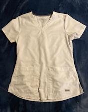 Greys Anatomy Scrub Top Women's Small White