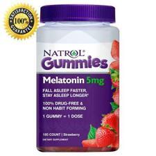 Natrol Melatonin 5 mg 180 ct Gummies Sleep Aid Strawberry Flavor *Fast Shipping