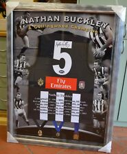 Nathan Buckley signed collingwood jumper  with COA