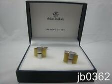 Dolan Bullock Sterling Silver & Fiber Optic Cuff Links