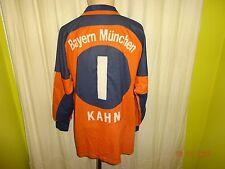"FC Bayern München Original Adidas Torwart Trikot 00/01 ""OPEL"" + Nr.1 Kahn Gr.M-L"