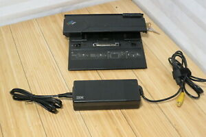 IBM THINKPAD DOCKING STATION TYPE 2878 P/N 62P4551 with KEY and POWER ADAPTER