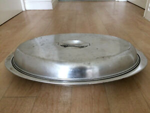 LARGE CATERING CASSEROLE STAINLESS STEEL SERVING DISH  LENGTH 510mm WIDTH 310mm