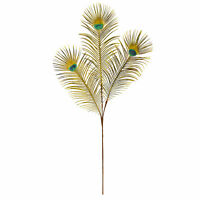 """36"""" Peacock Feather Artificial Spray Home Decoration Nearly Natural Set Of 8"""