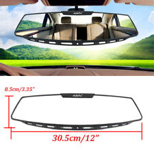 "Universal Car Interior Rear View Mirror 12"" Wide Angle Curve Convex Rearview Kit"