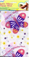 BUTTERFLY NO MESS FLOOR SPLASH MAT BABY HIGH CHAIR FEEDING COVER MESSY PLAYING