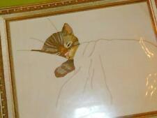 New listing Erica Wilson Cm Columbia Minerva Crewel Embroidery Kit Chessie Cat 7644