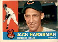 1960 Topps #112 JACK HARSHMAN EX/MT Indians