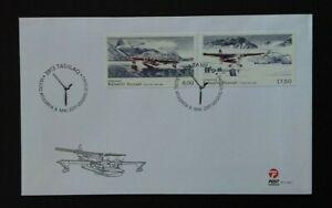 Greenland 2011 SG648/9 Civil Aviation History (1st Series) FDC
