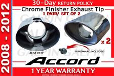 Genuine OEM Honda Accord Chrome Finisher Exhaust Tips 2008 - 2012  (SET OF 2)
