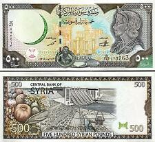 SYRIA 500 POUNDS 1998 UNC WITH MAP P 110b