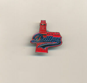 Tulsa Drillers Old Style Logo Red AA Minor League Baseball Pin