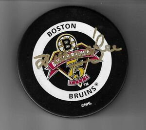 Willie O' Ree Boston Bruins 75th Anniversary Signed Official Game Puck