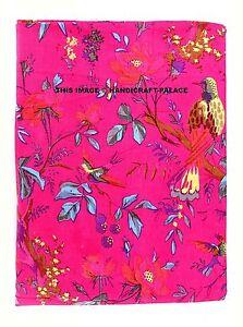 Indian Pink 10 Yard Hand Block Bird Print Cotton Jaipuri Indian Dress Fabric