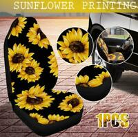 2pcs Car Seat Cover Sunflower Car Interior Accessory Car Seat Protector For Auto