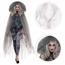 Ladies Halloween Fairytale Zombie Ghost Hooded Cape Cloak Fancy Dress Outfit
