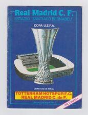 ORIG. prg UEFA Cup 1984/85 real madrid-tottenham hotspur 1/4 Finale! top