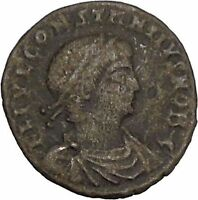 CONSTANTIUS II son of  Constantine the Great  Ancient Roman Coin Standard i42513