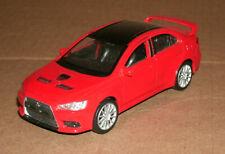 1/39 Scale Mitsubishi Lancer Evolution X Diecast Model Evo 10 - Welly 43655 Red