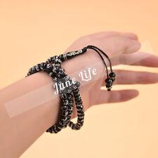 1X Muslim Islamic Tasbih 99 Beads Rosary Carved Allah Necklace Bracelet Prayer