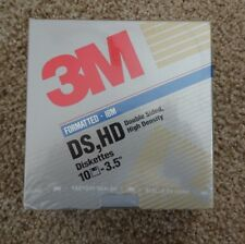 """Diskettes - 3M DS HD Double Sided High Density (10) 3.5"""" - new"""