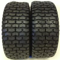 2 15X6.00-6 TURF LAWN MOWER TIRES HEAVY DUTY 4 PLY TWO NEW TIRES 15/600-6