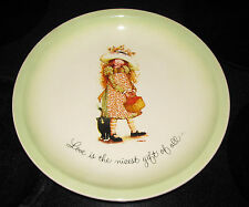 "Holly Hobbie Collector Plate American Greetings ""Love is the nicest gift of all"""
