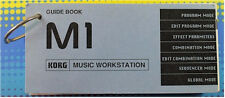 ORIGINAL KORG GUIDE BOOK for M1 MUSIC WORKSTATION ++FREE SHIP!