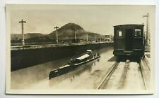 "3.5 x 5.75""  Photo Panama Canal 1926 Netherlands Holland Dutch Submarine K XIII"