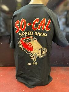 So-Cal Speedshop t-shirt black roadster size XXL rear print hot rod 1932 ford