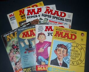 MAD MAGAZINE! LOT OF 60'S-70'S SPECIALS! NICE!
