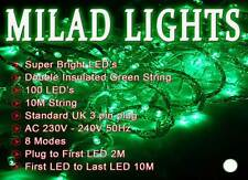 100 Green Coloured LED Milad, Party lights, indoor use only
