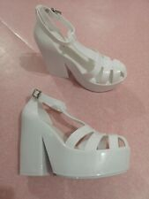 f5862fbc31 Ladies Primadonna Collection white Platform Sandals with High Heel Size 7 UK