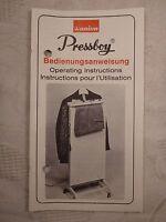 Bedienungsanleitung Pressboy Union Hosenpresse Bügelpresse Presse Kleidung